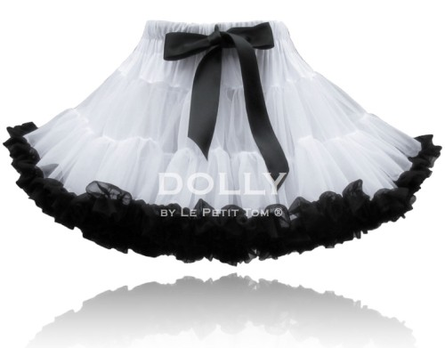 DOLLY by Le Petit Tom ® COCO CHANEL pettiskirt White Black